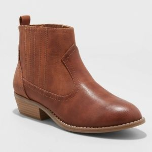 Women's Western Ankle Boots Cognac